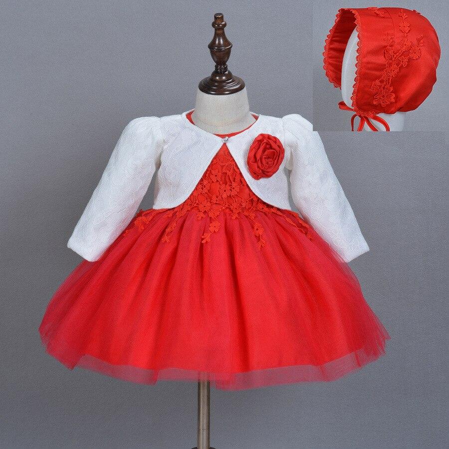 Newborn Baby Dress Infant Princess 1st Birthday Dresses for Toddler Girls Baptism Gown Infantil Vestidos Kids Clothes Girls