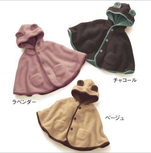 La alta Calidad Del Otoño y del invierno Lindo Bebé Oso Modelo Manto Manto Lindo del bebé Paño Grueso Y Suave + Algodón, bebé del invierno prendas de vestir exteriores de ropa de abrigo