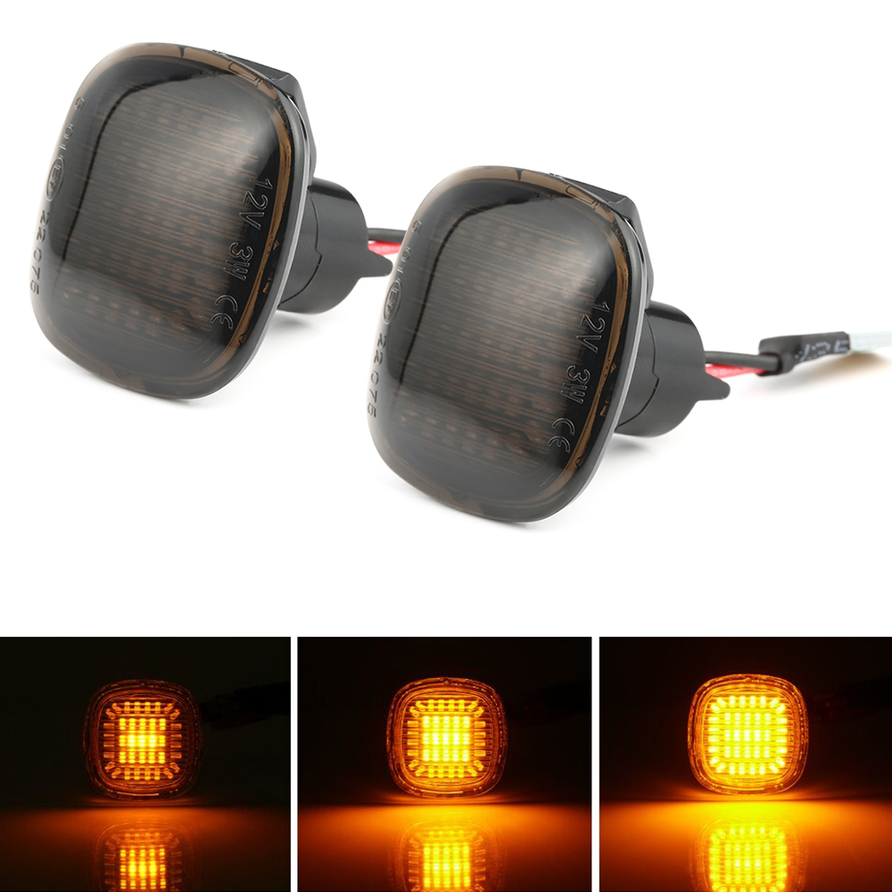 2 pieces Led Dynamic Side Marker Light Turn Signal Sequential Blinker Light Amber LED Fender Lamps For <font><b>Audi</b></font> A3 8L <font><b>A4</b></font> 8D <font><b>A4</b></font> S4 <font><b>B5</b></font> image