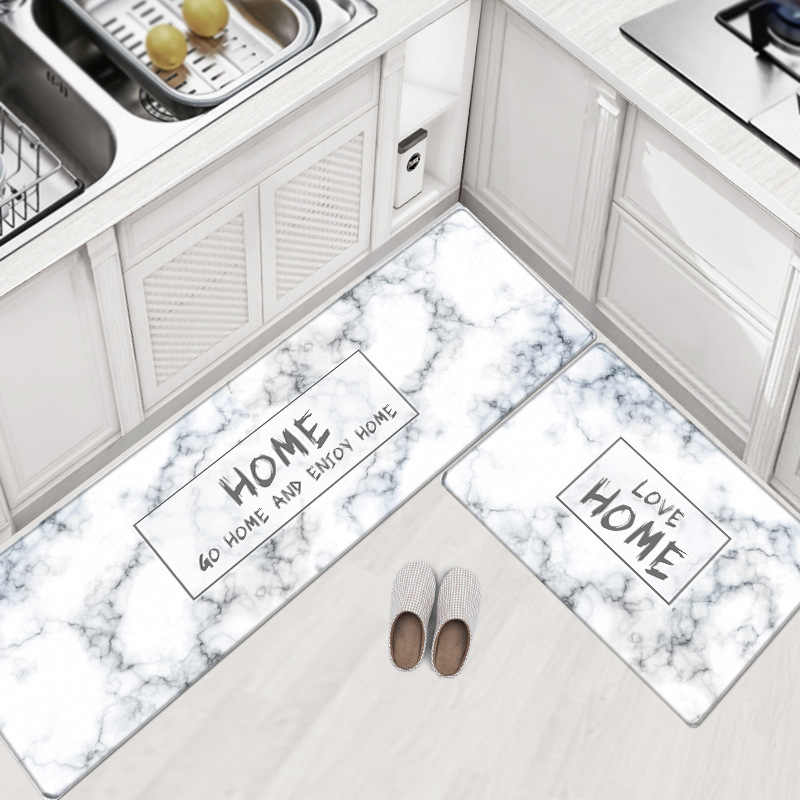 Pvc Leather Kitchen Rugs Carpets Set