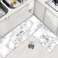 PVC Leder Küche Teppiche Teppiche Set Lange Größe Sofa Teppiche Öl-beweis Wasserdicht Wohnzimmer Nacht Boden Tatami matte tapetes