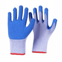 Красный полиэстер черный рабочие защитные перчатки Механика рабочие перчатки