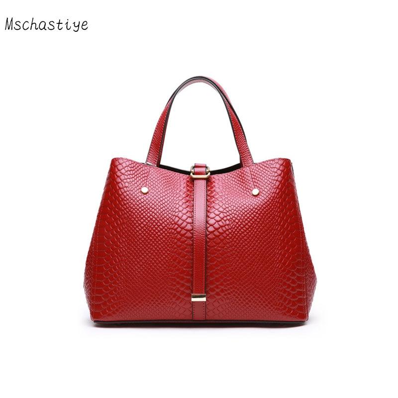 Mschastiye cuir véritable femmes sacs à main décontractés rouge/noir/gris cuir de vache couleur unie haute capacité sacs à main et sacs à bandoulière