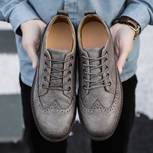 2019 Autumn New Men Martens Shoes Brogue Casual Fashion Work Business Sneakers