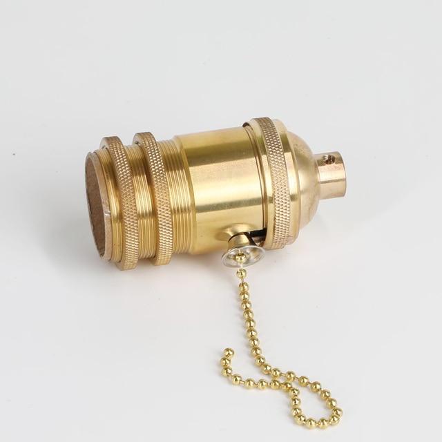 Edison copper knob Lamp holder cap E27/E26 Bare knob switch lamp chandelier lamp dedicated