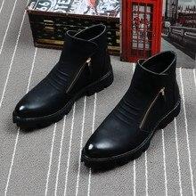 2cd2e44c330 Popular Side Zip Boots for Men-Buy Cheap Side Zip Boots for Men lots ...