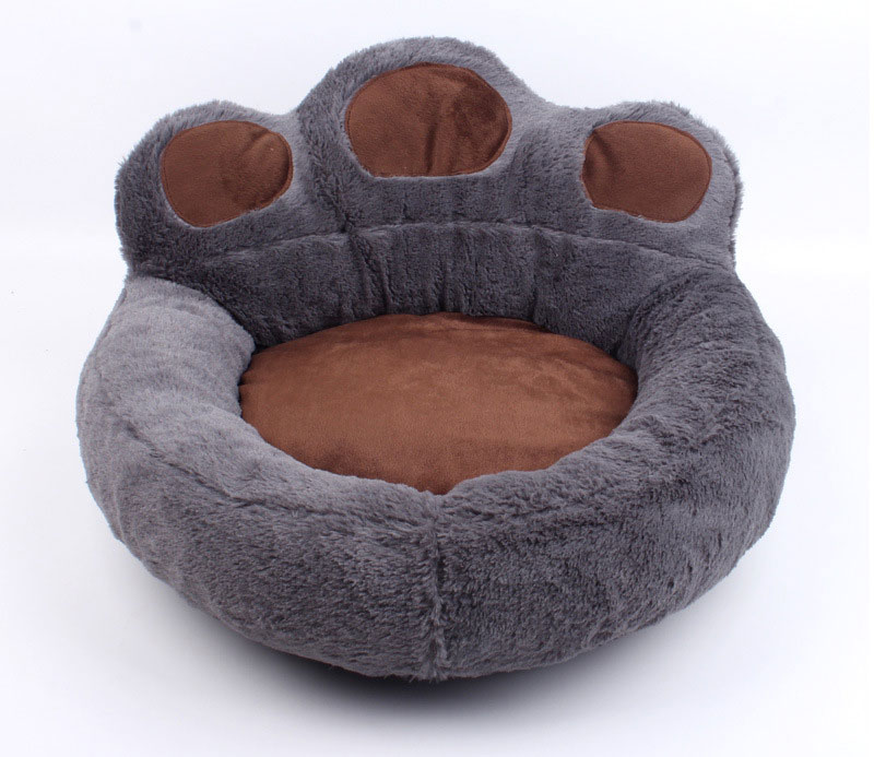 CAWAYI KENNEL Paw Shape Pet Dog Cat Bed Sofa Nest Soft PP Cotton Dog Warm Kennel Bed House Pet Mats Cushion Removable D1065 5