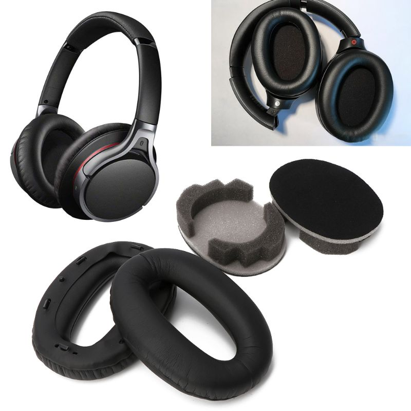 Soft Protein Leather Earpads Replacement Ear Pads Ear Cushion For <font><b>SONY</b></font> <font><b>MDR</b></font>-<font><b>1000X</b></font> <font><b>MDR</b></font> <font><b>1000X</b></font> WH-1000XM2 <font><b>Headphones</b></font> image