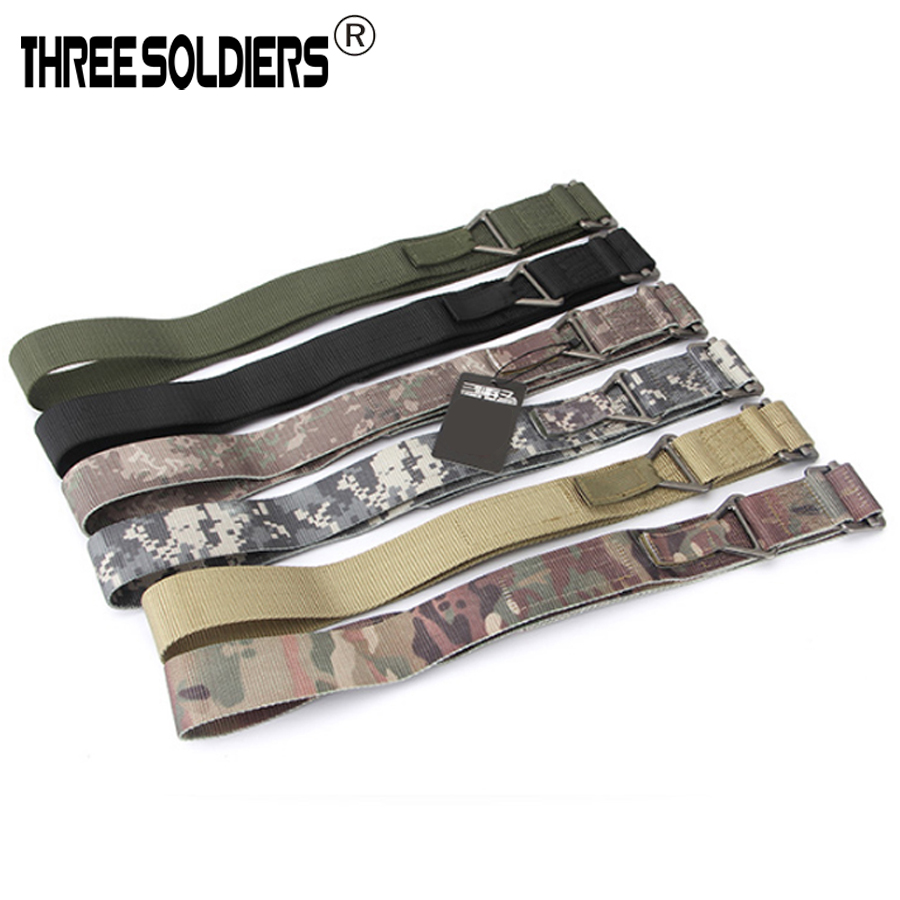 CQB Belt Mens Adjustable Emergency Rescue Sports Safaty Belt With Metal Buckle Military Rigging Tactical Waist Support Belt