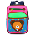NEW Cartoon Kid School bag star print Canvas Backpack baby School Bag For Kindergarten Girls and Boys Cute bear Rucksack 5 color