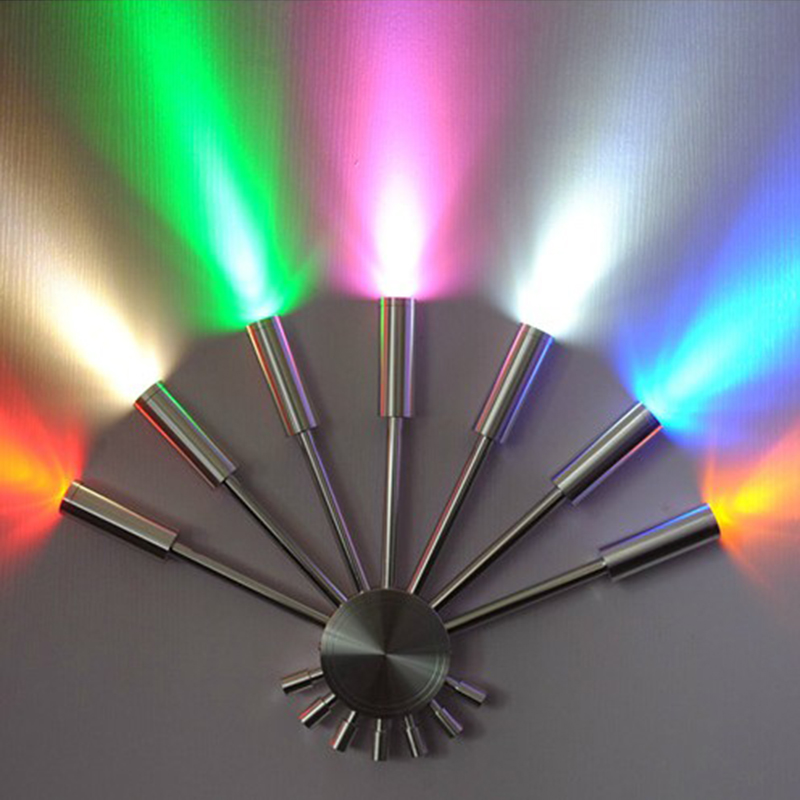 ФОТО Tanbaby 7W led wall light Fan shape indoor decoration light for corridor passageway bedroom KTV BAR wall spot light