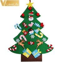 Dzieci DIY Czuł Choinki Ozdoby Xmas Wiszące Ozdoby Wystrój Domu Szczęśliwego Nowego Roku 2018 Dzieci Christmas Gift