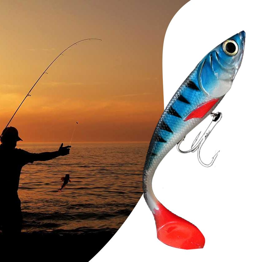 20CM Lifelike Fishing Lure Soft Bait False Fish Shaped Outdoor Accessories Big Size