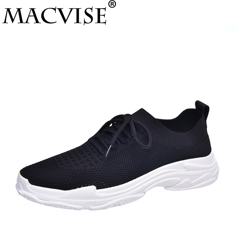Women Fashion Sneakers Spring Summer Platform Shoes Students Walking Shoes Comfortable Casual Womens White Mesh Shoes