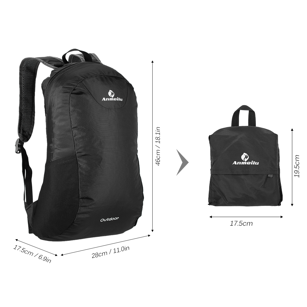 7217b9b96597 ANMEILU 15L Foldable Backpack Waterproof Climbing Rucksack Backpack Outdoor  Bag Cycling Backpack Travel Hiking Bag Stuff Sack-in Climbing Bags from  Sports ...