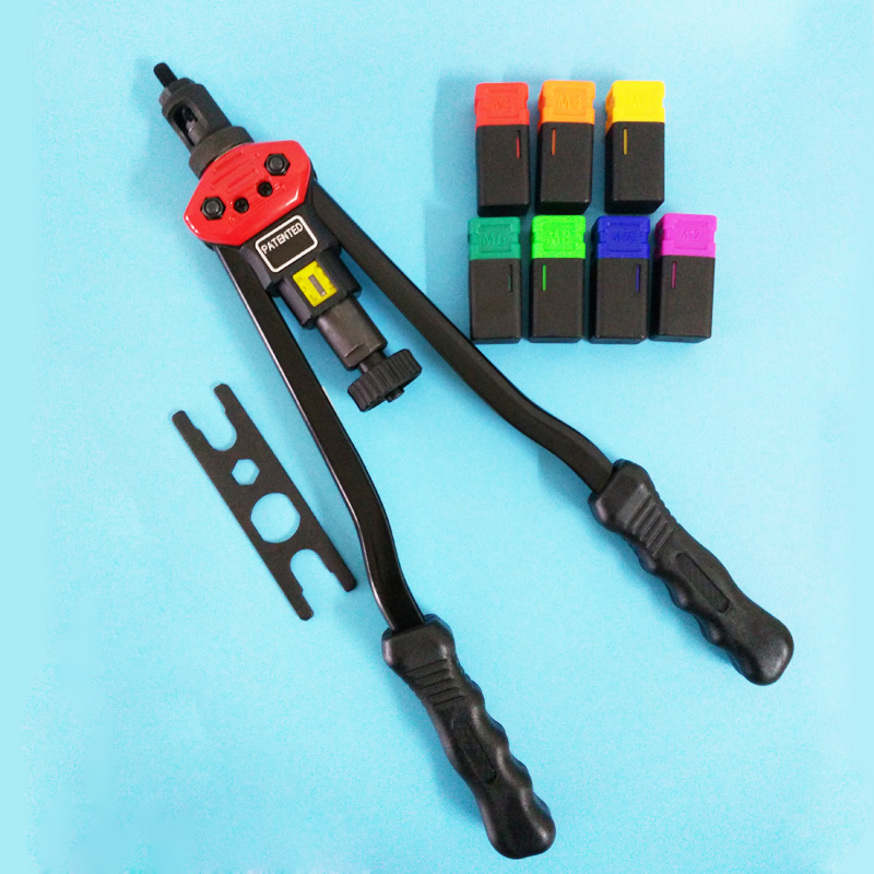 цена на M3 M4 M5M6 M8 M10 M12 Hand Riveter Rivet Nut Gun Riveting Tools With Nut Setting System M3-M12 Hand Nut Riveter