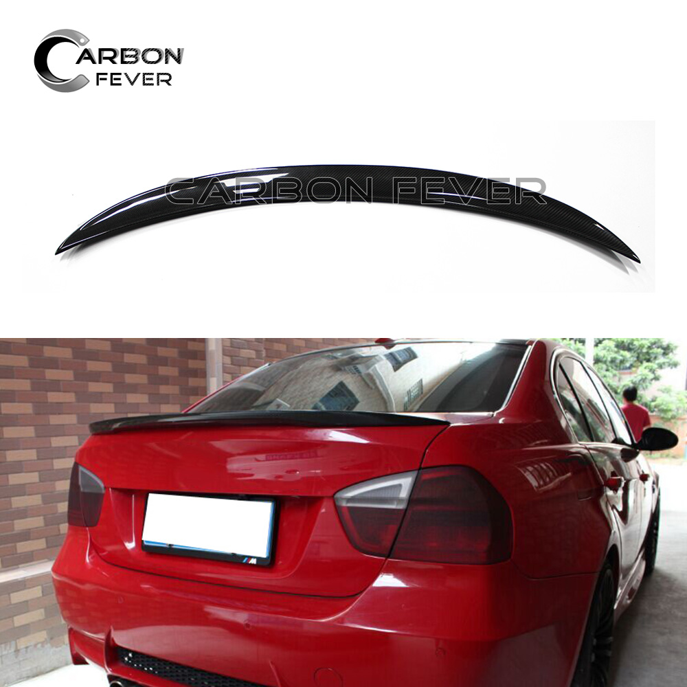 For BMW E90 & E90 M3 Spoiler Carbon Fiber Rear Trunk Wing 3 Series 320i 328i 335i Saloon for 12 16 bmw 3 series f30 4dr trunk spoiler oem painted match a83 glacier silver