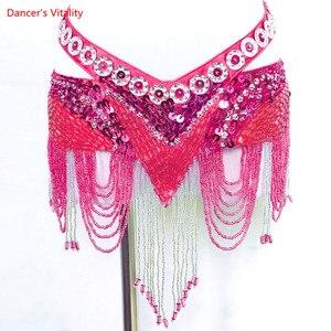 Image 2 - New 6 Colors Belly Dance Coin Belt Tribal Costume Fringe Tassel Belt Belly Dance Waist Belt On Sale