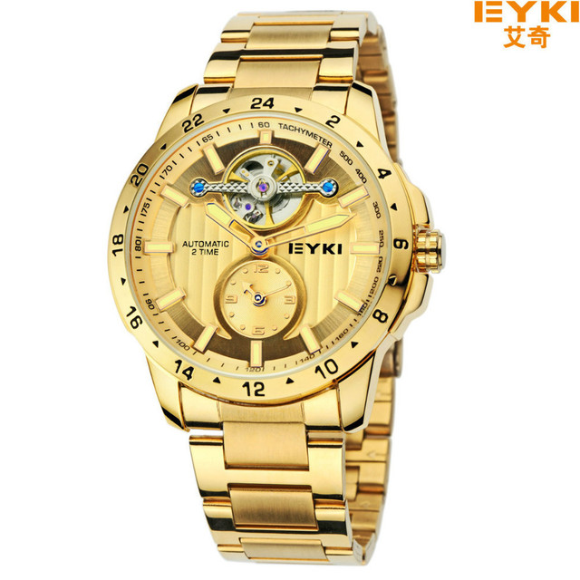 Brand Fashion High Quality 10M busiess 2 time  Automatic Self-Wind  Wristwatches waterproof Commerce watches men ,Birthday Gift