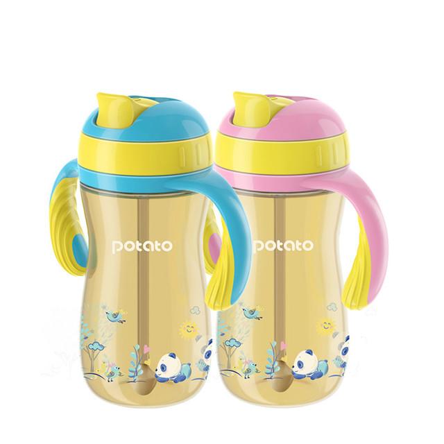Venda quente crianças aprendem a beber copos de palha ppsu bebê cup crianças treinamento canudinho copos à prova de vazamento