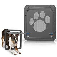 1pcs ABS Automatical Pet Gates Cats Door for Screen Window Home Cottage Nylon Mesh Puppy Kitten Fence Door