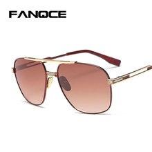 777744aaa FANQCE 2017 Big Tamanho Grande famoso óculos de Sol Espelho UV400 óculos de  Armação de Metal óculos de Sol das mulheres dos home.