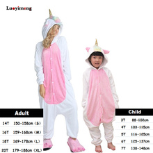 Girls Boy Cartoon Kigurumi Star Unicorn Pajama For Women Animal Onesie Pyjama Adult Winter Anime Unicornio Pijama Kids Sleepwear