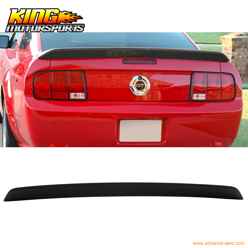 05-09 Ford Mustang OE Factory Style Painted Matte Black Trunk Spoiler ABS