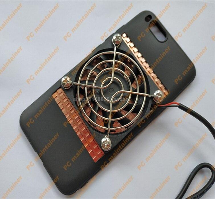 KOOLASON Diy Mobile Phone Tablet Laptop Game Heat Dissipation Radiator Copper Heat Sink USB Fan Case Sets
