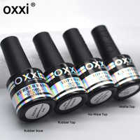 oxxi 8ml Nail Art UV Gel Varnish Nail Rubber Base and Top Coat Set For Nail Desgin Long-Lasting Led Manicure Gel Polish 2019