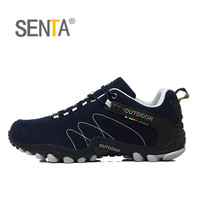 SENTA Spring Hiking Shoes Men Women Waterproof shoes Wear resisting Climbing Mountain Shoes Leather Sport Sneakers Trekking Boot