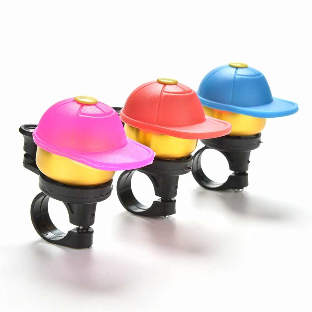 C6Y1 New Gold Tone Red Hatted Cartoon Boy Design Alloy Housing Bike Bicycle Bell