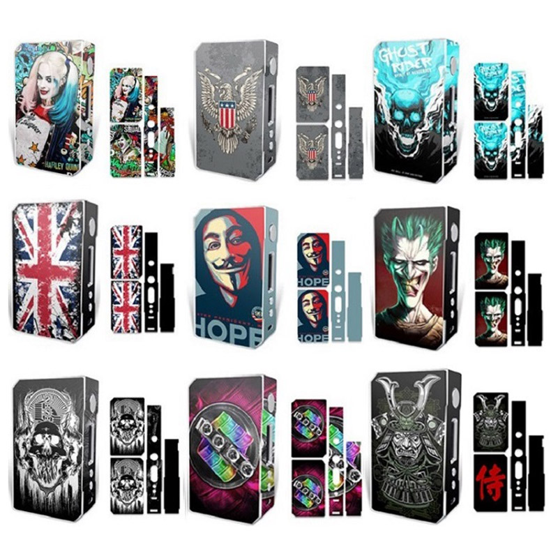 High Quality Electronic Cigarette Stickers For VOOPOO DRAG TC 157W Box Mod Skin Cover Sticker