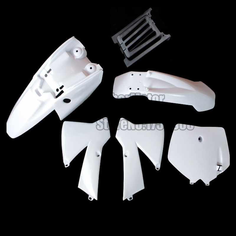White Fairing Plastic Fender Body Kit For KTM 50cc SX SR JR KTM50SX MT50 MTK50 Dirt Bike KTM50 Mini Senior Adventure Junior