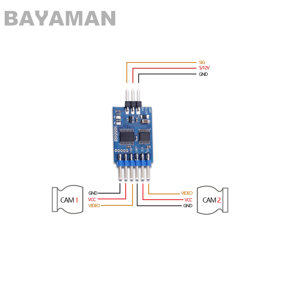 1pc 3 channel Video Switcher Module 3 way Video Switch Unit FPV Camera for  Multicopter Drones-in Parts & Accessories from Toys & Hobbies on  Aliexpress.com ...