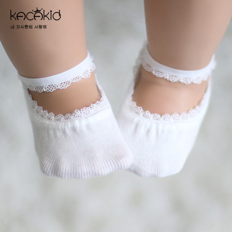 New Cotton Baby Socks Summer Solid Color Anti-slip Lace Baby Girl Socks Children Kids Clothes Accessories