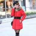Tempo frio de inverno quente para baixo Casaco jaqueta de Algodão Mulheres Longas da forma para baixo Casaco jaqueta Outwear Quente Grossa Jaqueta Casaco Corta-vento