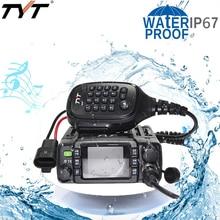 Tyt TH 8600 ip67 à prova d água mini rádio móvel potente banda dupla 136 174mhz/400 480mhz 25w caminhão de carro de motocicleta suv ao ar livre