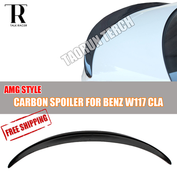 C117 AMG Style Carbon Fiber Rear Lip Wing Spoiler for Mercedes Benz C117 W117 A180 A200 A250 A45 AMG 2013 2014 2015 2016 2017