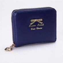 Hot New Bow tie Lady Short Women Wallets Mini Money Purses Fold PU Leather Bags Female Coin Purse Card Holder 2018 цена в Москве и Питере