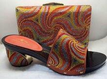 Hohe Qualität Passenden Italienischen Schuh-Und Taschensatz, nizza Keile Dame High Heels, Match Frauen Kleid, Größe 37-43