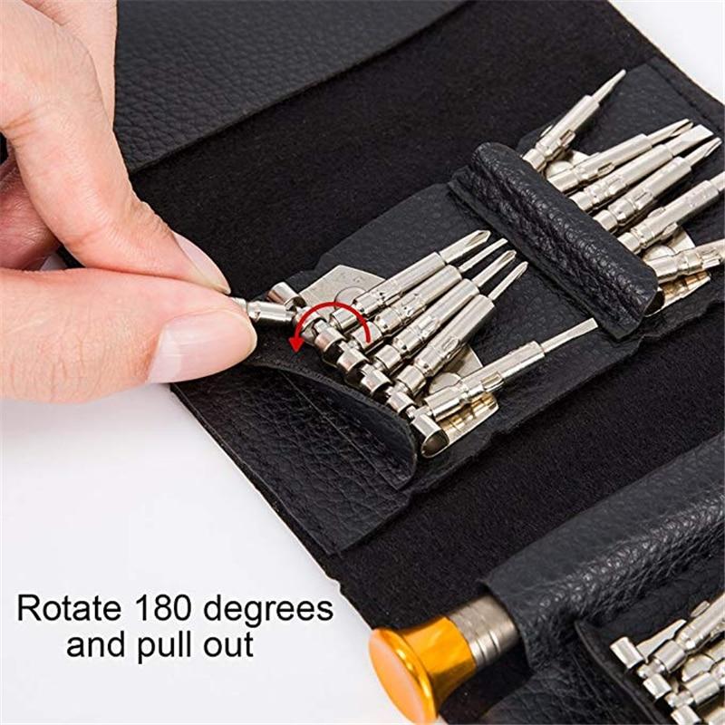 QUK Screwdriver Set Precision Repair Tool Kits 25 In 1 Torx Phillips Bit Sets Portable For PC Eyeglasses Mobile Phone Watch10