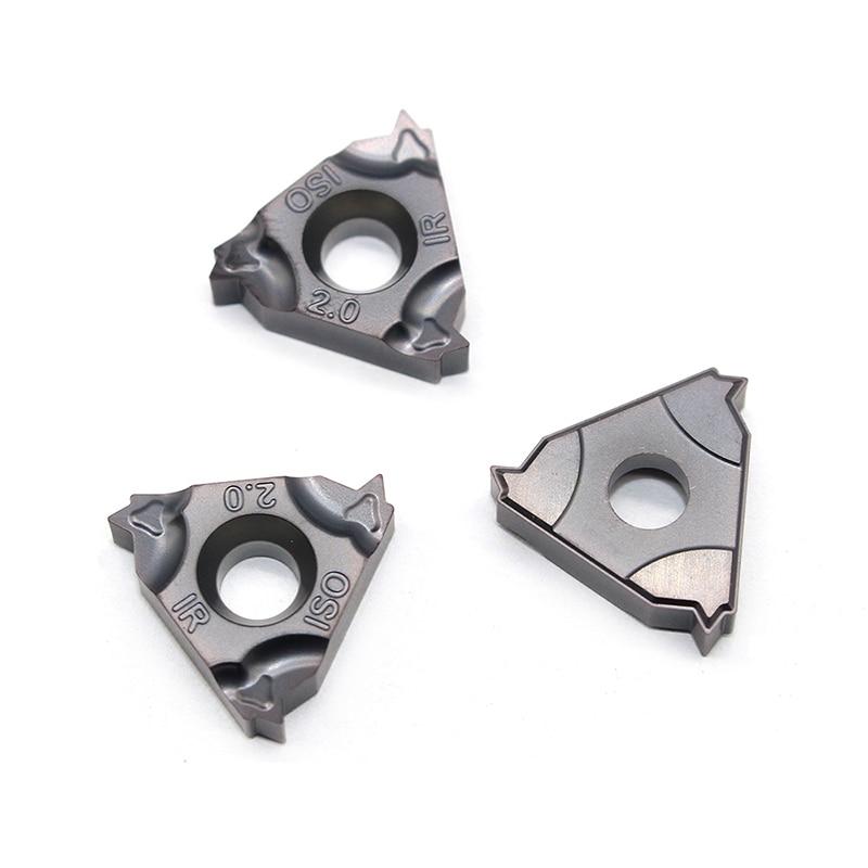 Купить с кэшбэком 11IR 16IR 1.0 ISO 1.25 1.5 1.75 2.0 2.5 3.0 IC908 Thread turning tools Tungsten Carbide Insert Threading Lathe Tool 16IRM/11IRM