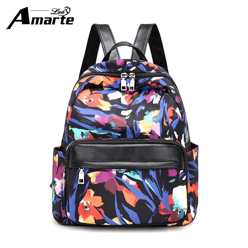 Amarte Women Backpack Waterproof Nylon Backpack Lady Women s Backpacks Female Casual Travel Bag Mochila Feminina