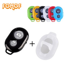 FGHGF Camera Bluetooth Remote Controller photo shutter Release For iphone 6 6s 7 Pau de Selfie stick for samsung s8 for Android cheap Fujifilm Canon Wireless selfie stick remote Control Plastic zpj005+ZPJ015 If it cannot use pls download the 10M remote control Distance(If no any Accessible)