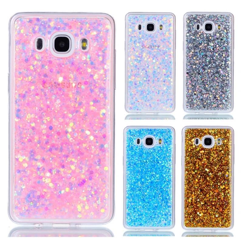 Pour étui Samsung Galaxy J5 2016 étui J510 paillettes couverture de téléphone pour Samsung Galaxy J5 2016 étuis pour Samsung J5 2016 coque de ...