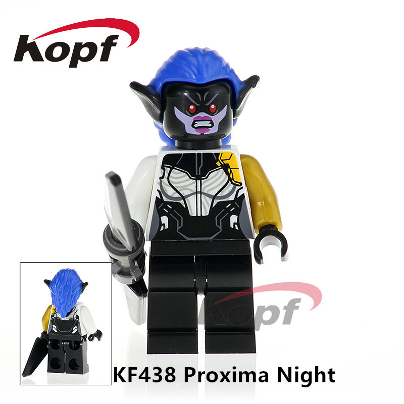 Single Sale Super Heroes Avengers INFINITY WAR Proxima Night Captain America Outrider Building Blocks Children Toys Gift KF438 single sale super heroes thor spiderman captain america batman hawkeye bricks action building blocks toys for children xh 004