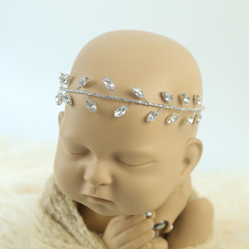 Newborn Baby Pearl Flower Headband Girl Hair Photography Props Accessories