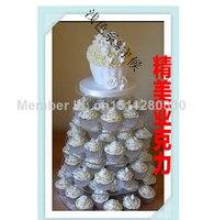 5 tier fine acrylic cake rack european style show Wedding party cake cake plate acrylic cupcake stand wedding decoration