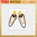 2017 Long Tassel  Gold Plated Opal Colorful Sample Chunky Cheap Chain Big Alloy Drop Earrings for Women Wholesale
